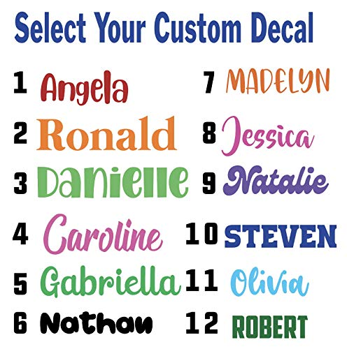 Personalized Custom Font Name Decal Sticker Compatible with Yeti RTIC Tumbler Cup, Laptop, Phones, RV, Boats, Notebooks, and Vehicles (Glitter Colors Available)