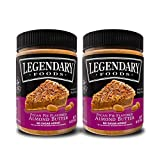 Legendary Foods | Pecan Pie Almond Nut Butter (16 oz Jar) | Low Carb and No Added Sugar | Healthy, Paleo, Vegan, Keto Friendly Snacks (2 Pack)
