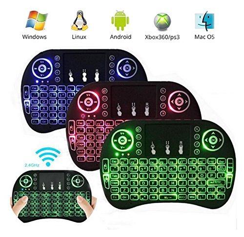 iPazzPort Mini Teclado inalámbrico retroiluminado con Touchpad Mouse para Raspberry Pi, Android TV Box, Smart TV Box, IPTV, HTPC, PC (Tres backlits): Amazon.es: Electrónica
