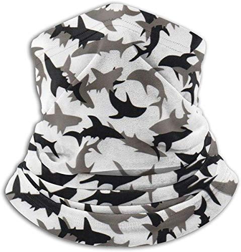 Shark Camo5 Halstuch für kaltes Wetter, Fleece, weich, Ski-Gesichtsschal, Maske für Herren und Damen, Einheitsgröße