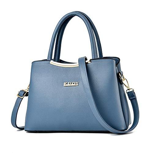 BebiNuevo bolso de moda simple bolso de mensajero de un solo hombro de gran capacidad-azul