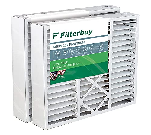FilterBuy 20x20x5 Air Filter (2-Pack, MERV 13), Pleated Replacement...