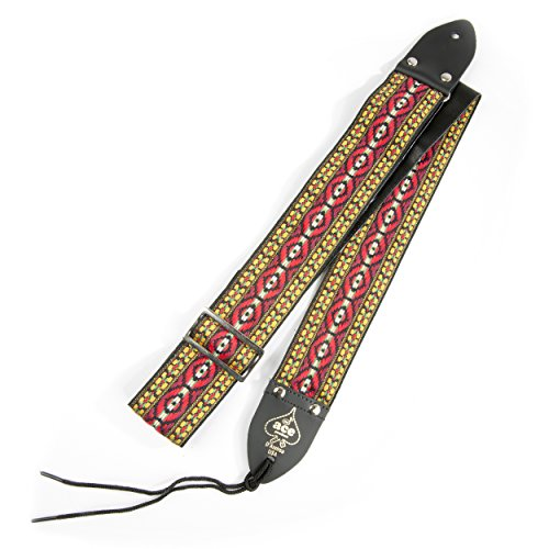 D'Andrea Ace Vintage Reissue Guitar Strap – Bohemian Red – Replica of...