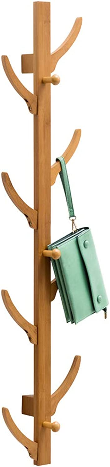 Chunlan Coat rack Wall-Mounted Solid Wood Coat Rack Convenient and Practical 16  25.5  84cm, 16  25.5  111cm (Size   111cm)