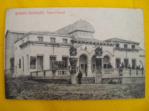 Antigua Postal - Old Postcard : BORGES BLANQUES - Teatre Foment