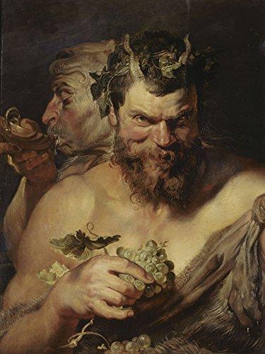 Artland Alte Meister Premium Wandbild Peter Paul Rubens Bilder Poster 80 x 60 cm Zwei Satyrn...