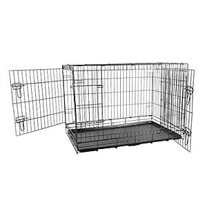OHholly Cage pour Chien - Pliable et Transportable - avec Plateau
