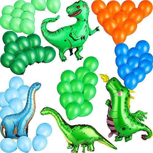9 Folien Dinosaurier Luftballons 60 Latex Luftballons für Urwald Thema Party Lieferungen Geschäft Dekoration Baby Dusche