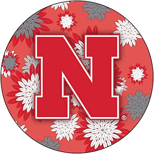 R and Imports Sale price Nebraska Cornhuskers Floral 4 Inch Round Magnet Easy-to-use