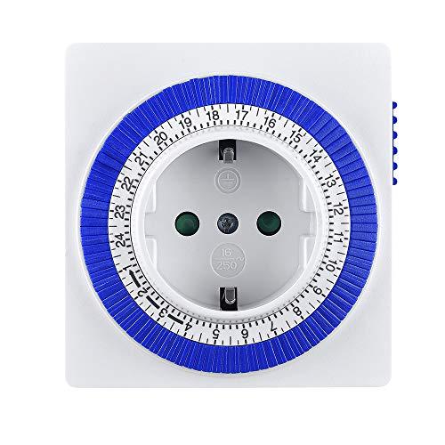 AmazonBasics - Mechanische Zeitschaltuhr, energiesparend, kompakt, 24-Stunden-Zyklus