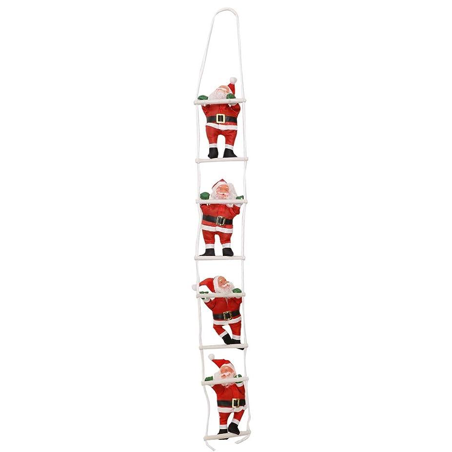 清める領域完璧クリスマス サンタクロス ロープ はしごに登る クリスマスツリー装飾 6タイプ選べ - 4人20cm