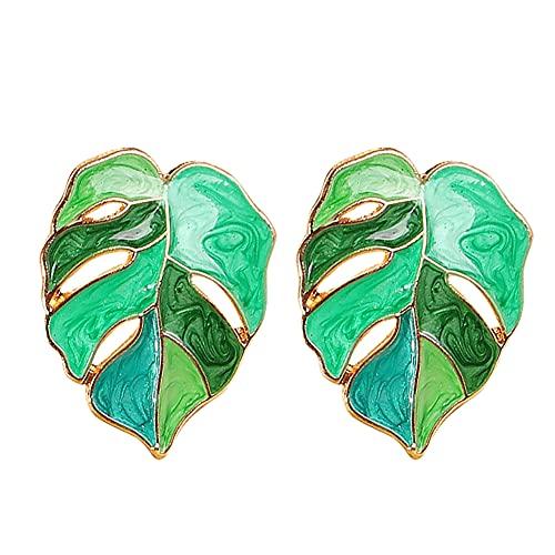 Pendientes verdes,pendientes de hoja de palma,pendientes Monstera,colgantes para mujeres, niñas,joyería tropical,regalo para cumpleaños,regalo de San Valentín,regalo para el día de la madre,Hoja verde