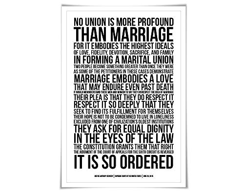 Gay Marriage Supreme Court Decision. 60 Colours/6 Sizes. Same Sex Wedding Poster. Civil Rights. Marriage Equality. Love is Love
