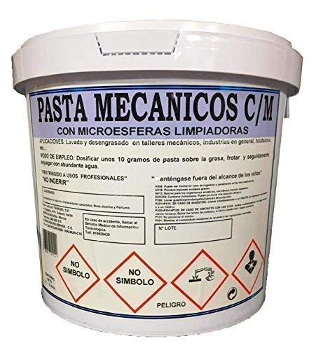 TARAGEL Pasta DESENGRASANTE LavaMANOS para Mecánicos con MICROESFERAS LIMPIADORAS (Bote 5 litros)