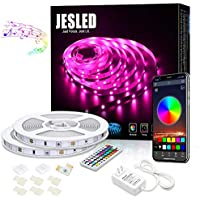 Jesled 32.8-Ft. Bluetooth 10M Color Changing LED Strip Lights with RF Remote