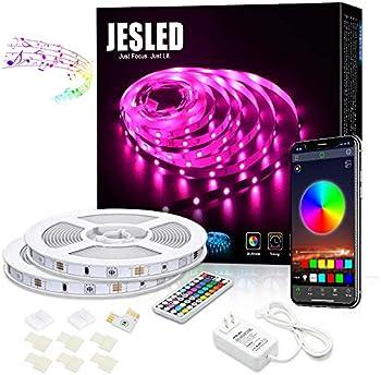 Jesled 32.8-Ft. Bluetooth 10M Color Changing LED Strip Lights