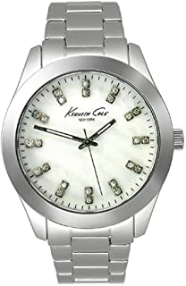 Kenneth Cole Womens Quartz Watch, Analog Display and Stainless Steel Strap KC4795