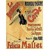 Cheret Rope Dancer Felicia Mallet Nouveau Vintage Advert Extra Large Art Print Wall Mural Poster Premium XL ダンサーヌーボービンテージ広告大アート壁ポスター