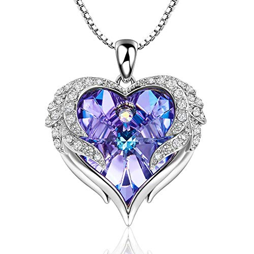 Love Heart Necklaces for Women Mothers Day Gifts for Mom Wife Crystals from Swarovski