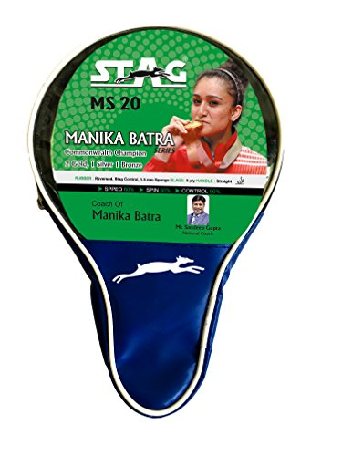 Stag Manika Batra MS-20 Table Tennis Racquet( Multi- Color, 156 grams, Beginner )