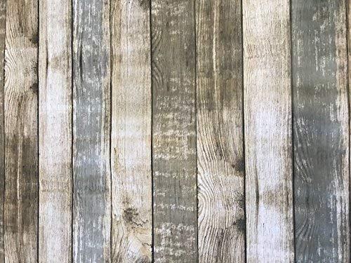 Linen702 Mantel de vinilo con efecto de madera rústica, para una mesa de hasta seis plazas, rectangular, fácil de limpiar, mantel de plástico con reverso textil, 2 metros de longitud (277)