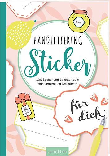 Handlettering-Sticker: 100 Sicker und Etiketten zum Handlettern und Dekorieren (Malprodukte für Erwachsene)