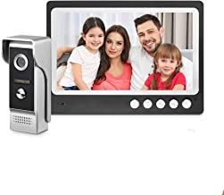 "Sponsored Ad - WOLILIWO 9"" LCD Monitor Wired Video Intercom Doorbell System, Video Door Phone Kits with 1200TVL Camera Nig..."