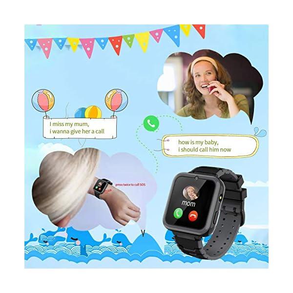 Smooce Smartwatch para Niños, Reloj Inteligente Niños Teléfono con 1.54 Pulgadas Pantalla Táctil, MP3 Música,Llamada SOS… 4