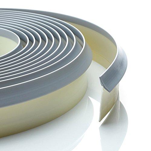 4,2m Dichtungsprofil aluminium Dichtleiste Nischenprofil PVC Fugen Ersatz Arbeitsplatte Rückwand