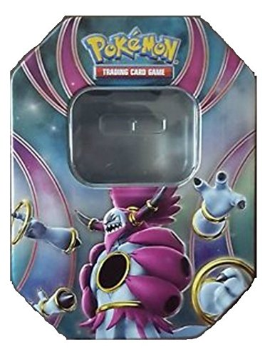 Pokemon Empty Hoopa EX Tin Trading Card Storage (Metallic, Two-Piece)