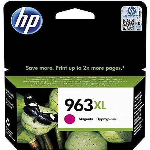 HP 963 XL 3JA28AE Cartuccia Originale ad Alta Capacità per Stampanti HP a Getto d'Inchiostro, Compatibile con HP OfficeJet Pro serie 9010 e HP OfficeJet Pro 9020, Magenta