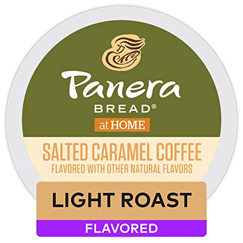 Panera Bread Salted Caramel, Single-Serve Keurig K-Cup Pods, Flavored Light Roast Coffee, 72 Count