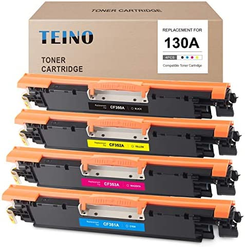 TEINO Compatible Toner Cartridge Replacement for HP 130A CF350A CF351A CF352A CF353A use with product image