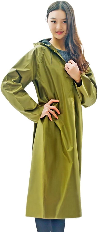 ZEMIN Rain Jacket Coat Raincoat Poncho Windbreaker Waterproof Cover Unisex Thick Canvas Polyester, YellowGreen, 3 Sizes Available Waterproof (Size   XXL)