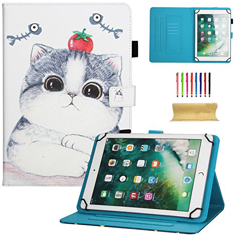 Dteck - Funda Universal para Samsung Galaxy Tablet, Apple iPad Mini, iPad 9.7, Amazon Kindle, Google Nexus y Más Tablets DE 6,5 a 10,5 Pulgadas 01 Tomato Cat For 7.5-8.5 Inch Tablet