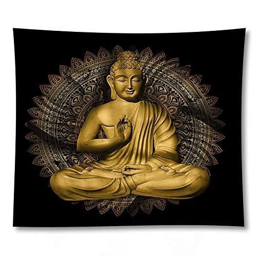 PPOU Indiano Statua di Buddha arazzo panno appeso a parete tappeto Yoga psichedelico sfondo Muro di casa panno appeso panno A5 180x200 cm