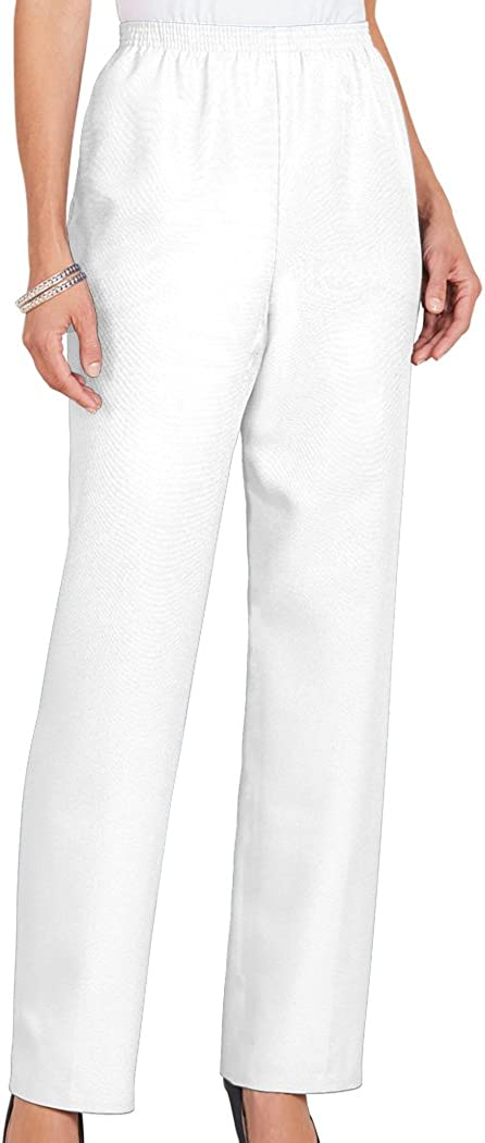 Alfred Dunner Women's Max 53% OFF Petite Polyester Len - Short Pants Pull-On Sales