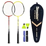 Senston - 2 Player Badminton Racket Set - Including 1 Badminton Bag/2...