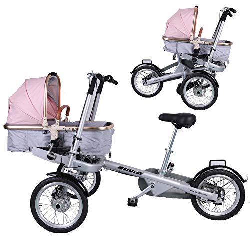 Baby Kinderwagen 2 in 1 Kombi-Kinderwagen Faltbare Mutter-Kind-Auto Abnehmbar 2 Modi Free Convertible Fahrmodus + Kinderwagen-Modus Can Sit-and-Ride Adult Unisex