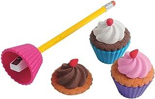 U.S. Toy LM212 Cupcake Eraser(Sharpeners(6 Piece)
