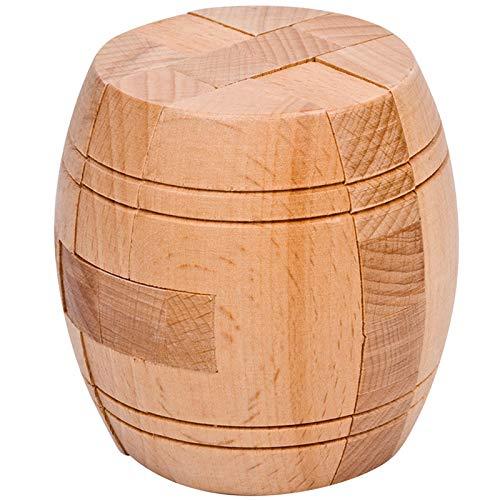 BRTTHYE houten puzzel kubus Kong Ming/Luban slot voor vat vorm intellectuele hersenen Teaser spel