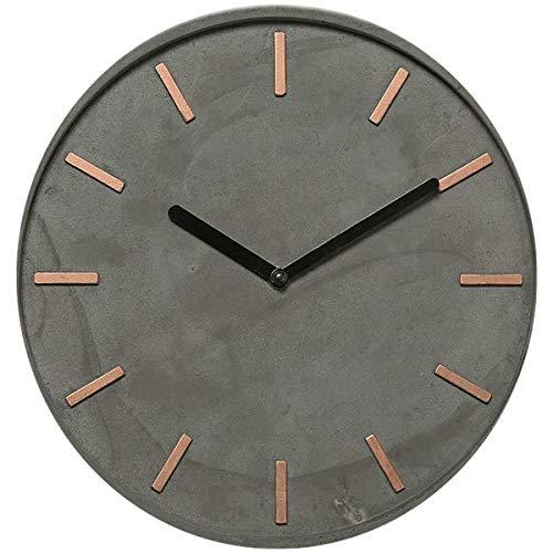Design Beton Wanduhr Grau Kupfer Schwarz Deko-Uhr Küchenuhr Bürouhr Wand-Deko
