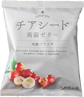 チアシード蒟蒻ゼリー 発酵プラス カムカム味 10個入 ×12袋セット