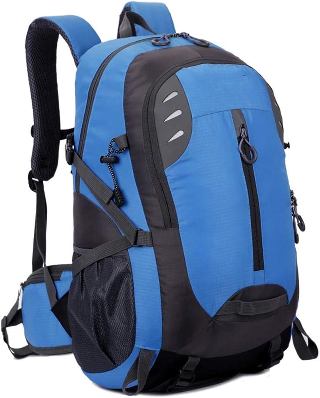 Mountaineering Hiking Bag LargeCapacity Sports Backpack Travel Bag,bluee