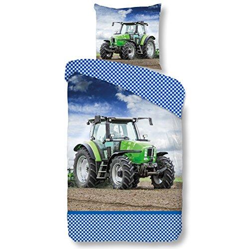Good Morning Bettwäsche Renforcé blau Größe 135x200 cm (80x80 cm)