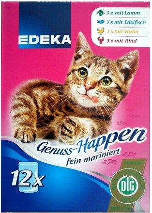 EDEKA Katzenfutter Genuss-Happen fein mariniert Multi-Pack 12 Stk