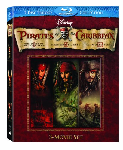 Pirates of the Caribbean Three-Movie Set (Curse of the Black Pearl / Dead Man's Chest / At World's End) [Blu-ray]