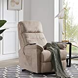 Merax Lift Chair and Power Suede Fabric, Living Room Heavy Duty Reclining Mechanism, Beige