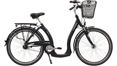 Hawk City Comfort Plus Unisex voor volwassenen, 28 inch, 7-G zwart, mand, inch