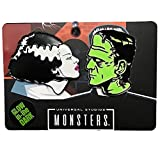 Universal Bride and Frankenstein Glow In The Dark Pin Set, Green, One Size